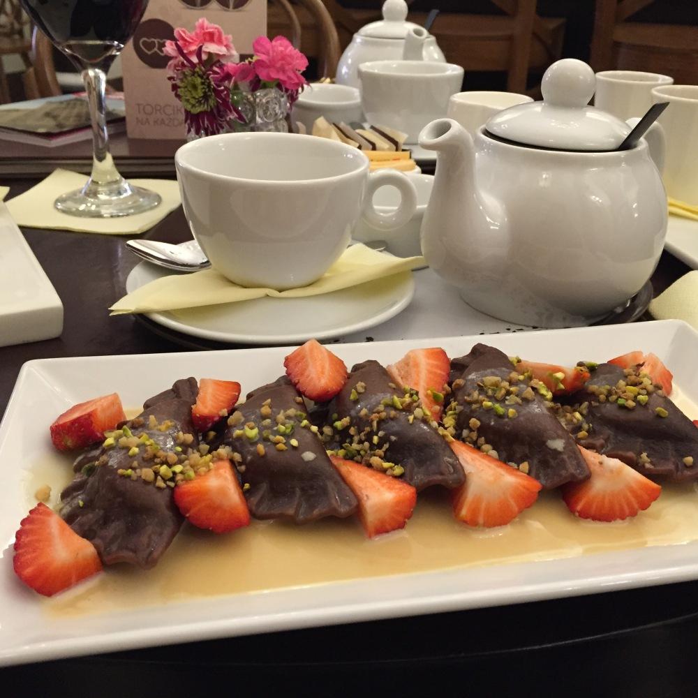 chocolate pierogi
